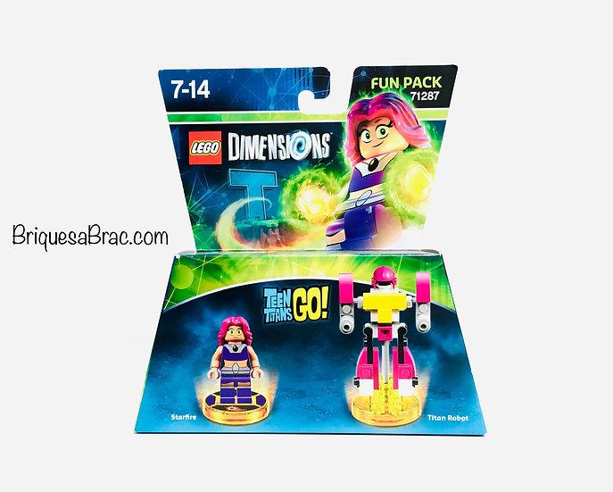 LEGO ® DIMENSIONS 71287 Teen Titans Go (Starfire and Titan Robot) (Neuf)