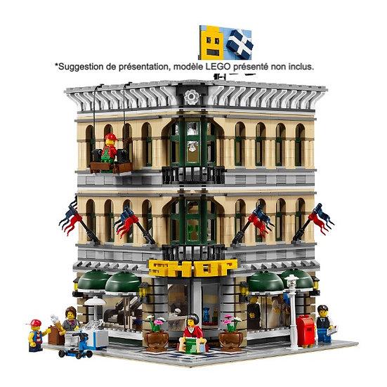 Vitrine BriquesaBoX pour Le Grand Emporium (LEGO® 10211 non inclus)