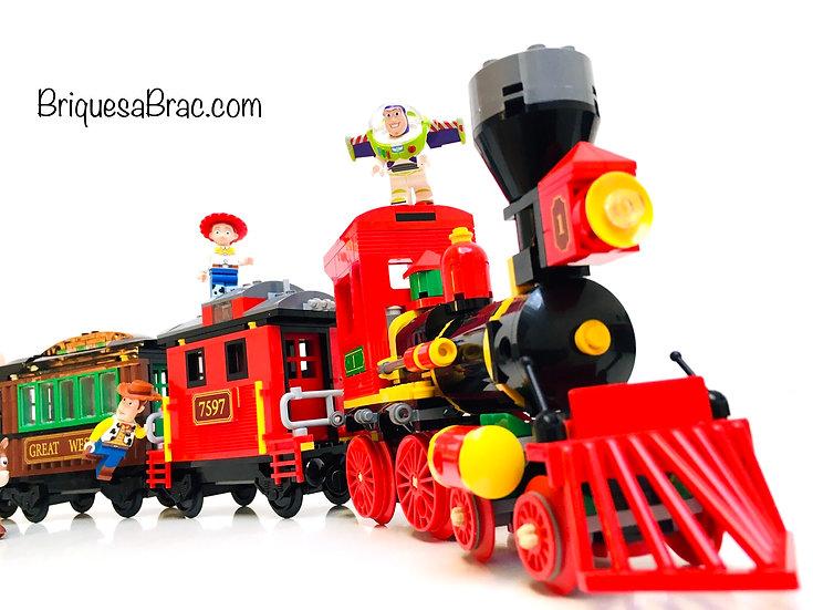 LEGO ® TOY STORY 7597 Course poursuite dans le Train du Far West (Occasion)