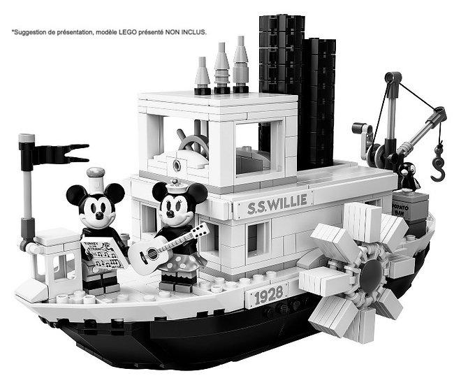 Vitrine BriquesaBoX pour Steamboat Willie (LEGO® 21317 non inclus)