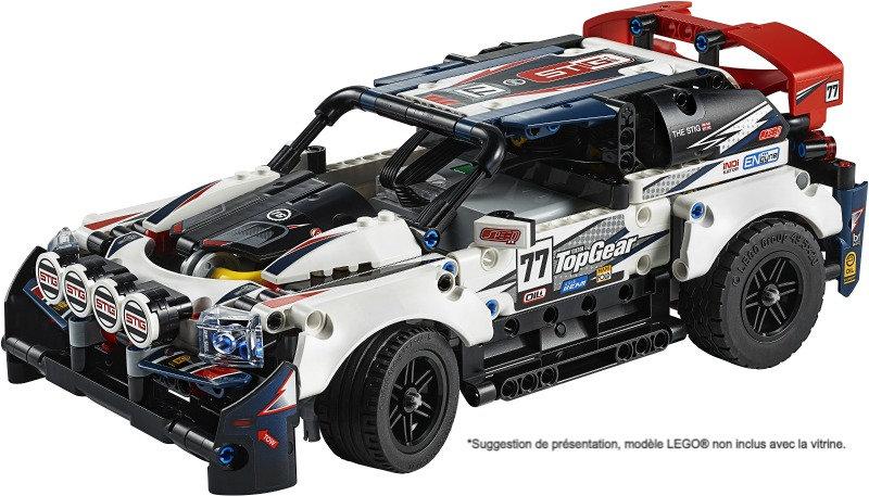 Vitrine BriquesaBoX pour Top Gear Rally Car (LEGO® 42109 non inclus)