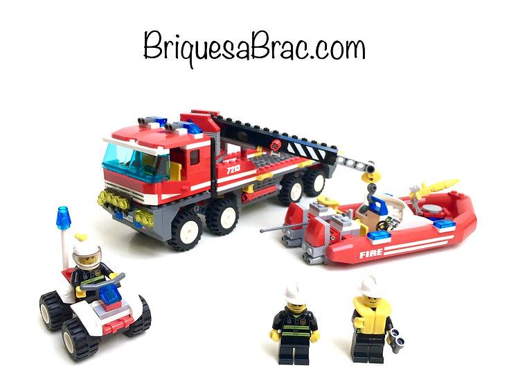LEGO ® CITY 7213 Le camion tout terrain et le bateau des pompiers