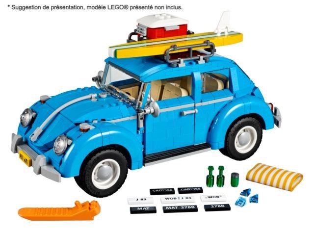 Vitrine BriquesaBoX pour Volkswagen Beetle (LEGO® 10252 non inclus)