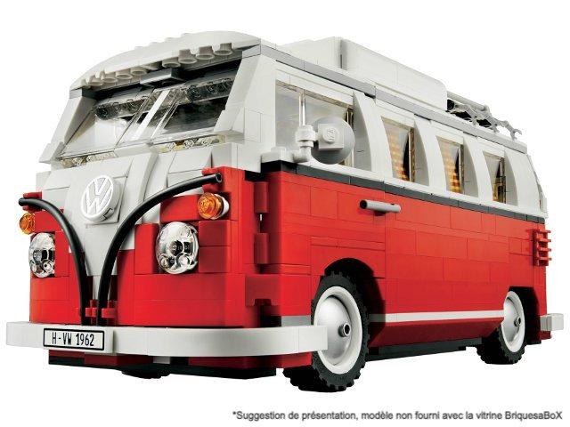 Taille XXL Vitrine BriquesaBoX pour VW Combi T1 (LEGO® 10220 non i
