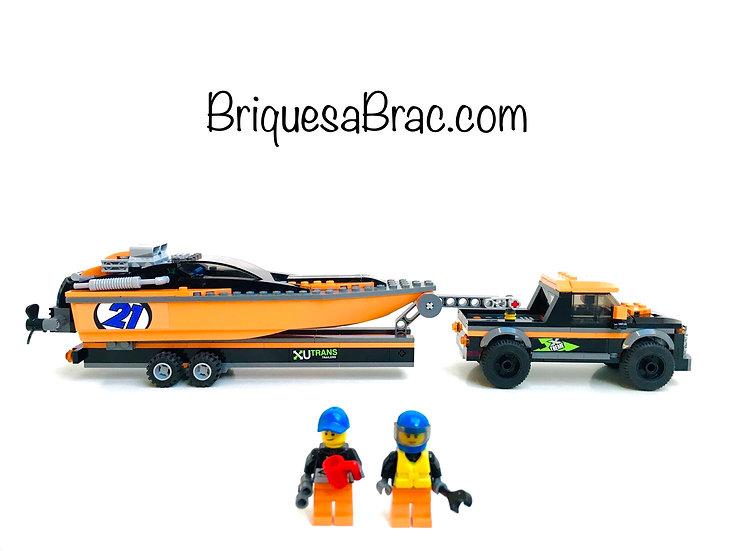 LEGO ® CITY 60085 Le 4x4 et son hors-bord (Occasion)