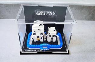 Vitrine d'exposition Plexiglas BriquesaBoX pour LEGO® PETS Brickheadz Avec gravure personnalisée