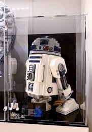 Vitrine BriquesaBoX LEGO® R2-D2 avec gravure du Set et Fond Noir