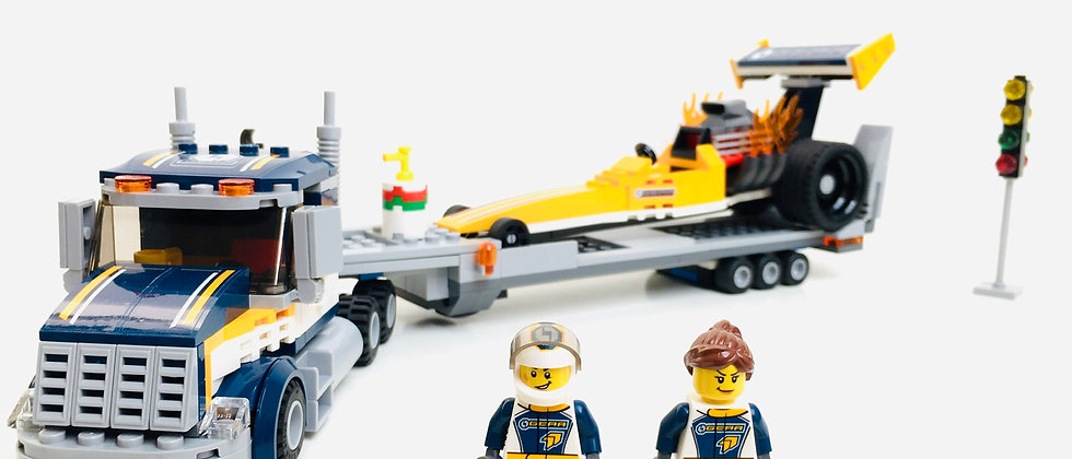 LEGO ® CITY RACE 60151 Le Transport du Dragster