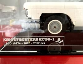 Vitrine d'exposition BriquesaBoX Ideas Retour ECTO-1 avec Gravure Identité du Set et gravure personnalisée Capot