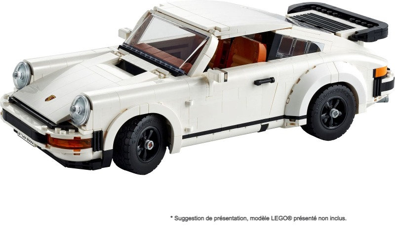 Taille Standard Vitrine BriquesaBoX pour Porsche 911 (LEGO® 10295 non inclus)