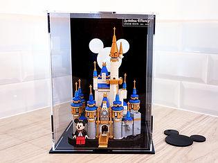 Vitrine Plexiglas BriquesaBoX pour LEGO 40478 Le chateau de disney miniature