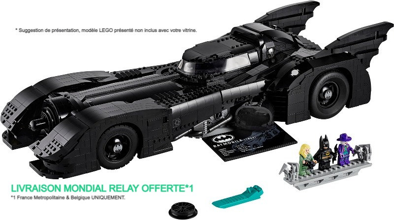 Vitrine BriquesaBoX pour 1989 Batmobile (LEGO® 76139 non inclus)