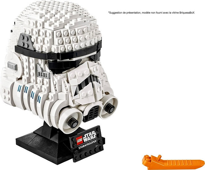 Vitrine BriquesaBoX pour Le Casque Stormtrooper (LEGO® 75276 non inclus)