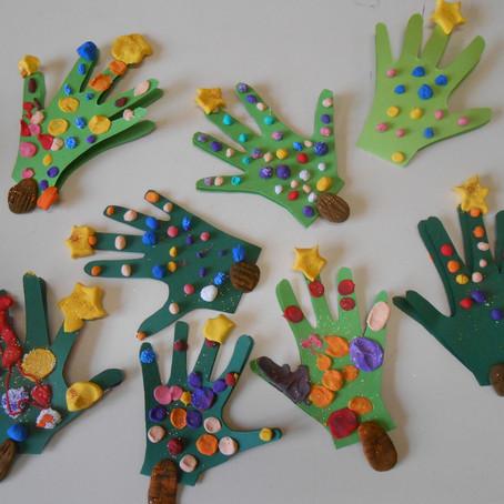 Créations de Noël réalisées par les enfants dans les écoles