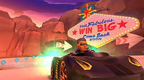 Mobile Game Racing Game Running Rich Racing Track Neon Canyon Big Bad Wolf