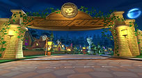 Mobile Game Racing Game Running Rich Racing Track Fairy Tale Forest Main Gate