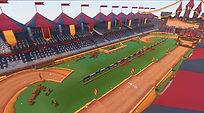 Mobile Game Racing Game Running Rich Racing Track Jousting Stadium