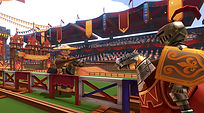 Mobile Game Racing Game Running Rich Racing Track Jousting Stadium Robots Jousting Gameplay Cinematic