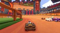 Mobile Game Racing Game Running Rich Racing Track Jousting Stadium Big Bad Wolf POV gameplay