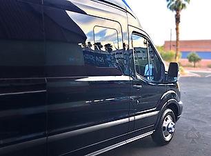 2019 Ford Transit Limo Van Tint Forward