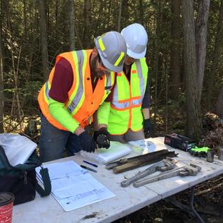 Georgina Island Waste Site - Drilling Wells