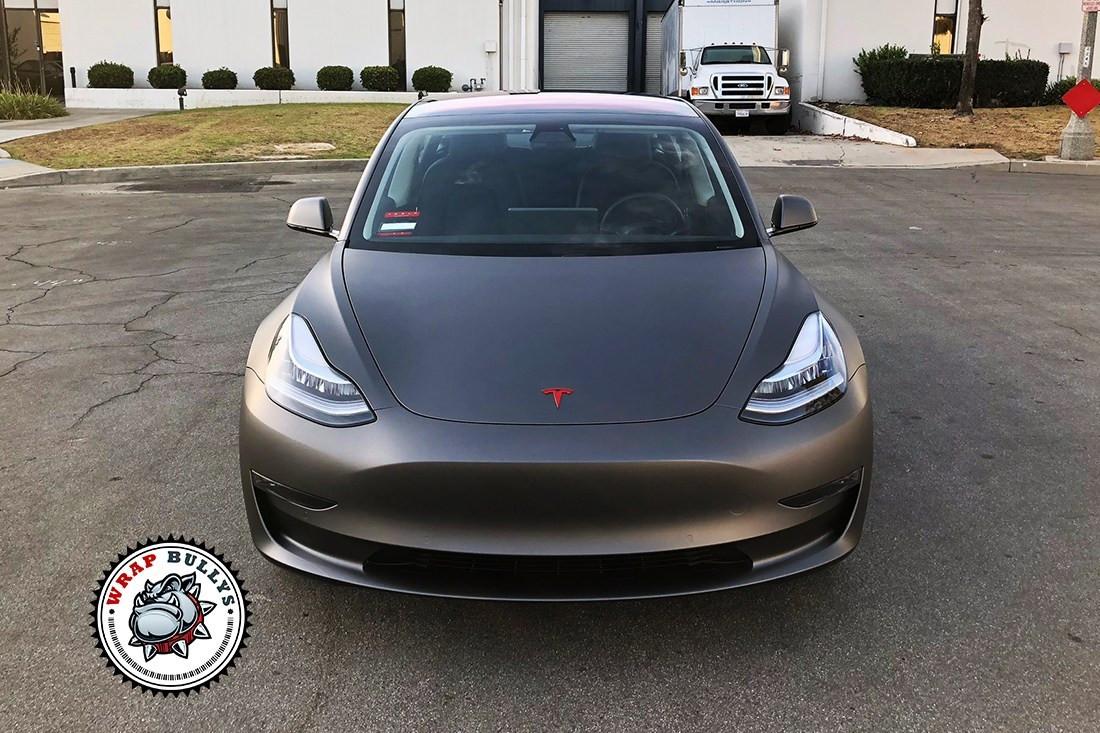 Matte Grey Car >> Matte Grey Tesla Model 3 Car Wrap 3 Jpg