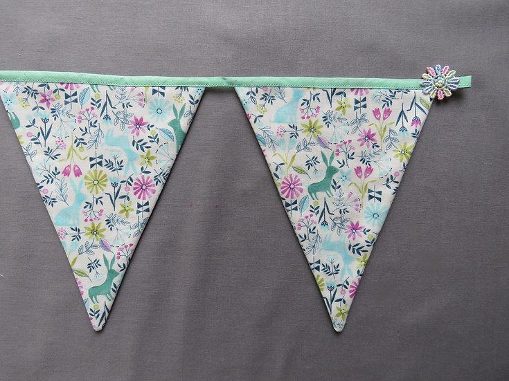 Fairy garden bunting - 6 flags