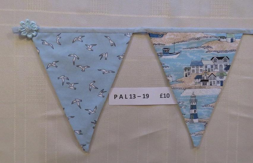 Seaside bunting - 12 flags