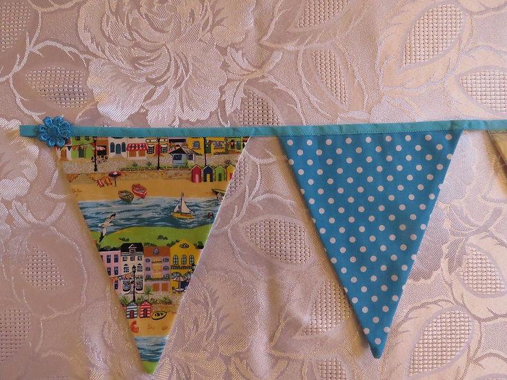 Seaside bunting - 7 flags