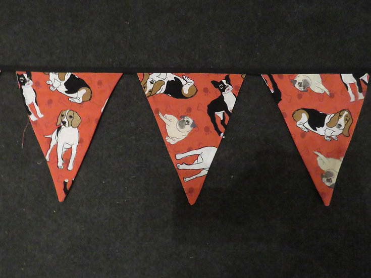Doggie lovers bunting - 7 flags