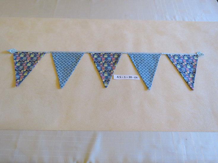 Fairies and blue hearts - 5 flags