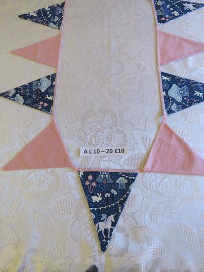 Fairy garden bunting - 12 flags