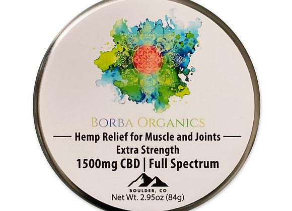 Borba Organics' Muscle Cream 1500mg CBD | Full Spectrum