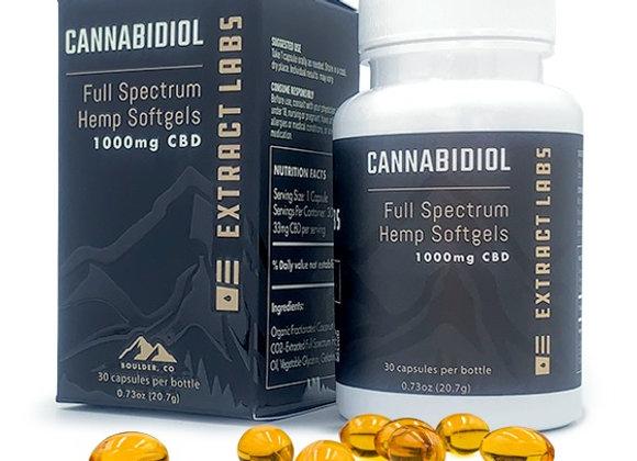 Extract Labs  Cannabidiol | Soft-Gel Capsule | Full Spectrum | 1000mg CBD