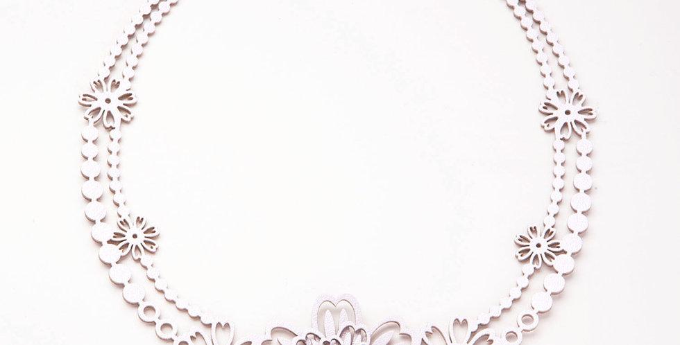 Ginta フロントデイジーチョーカーネックレス パールピンク