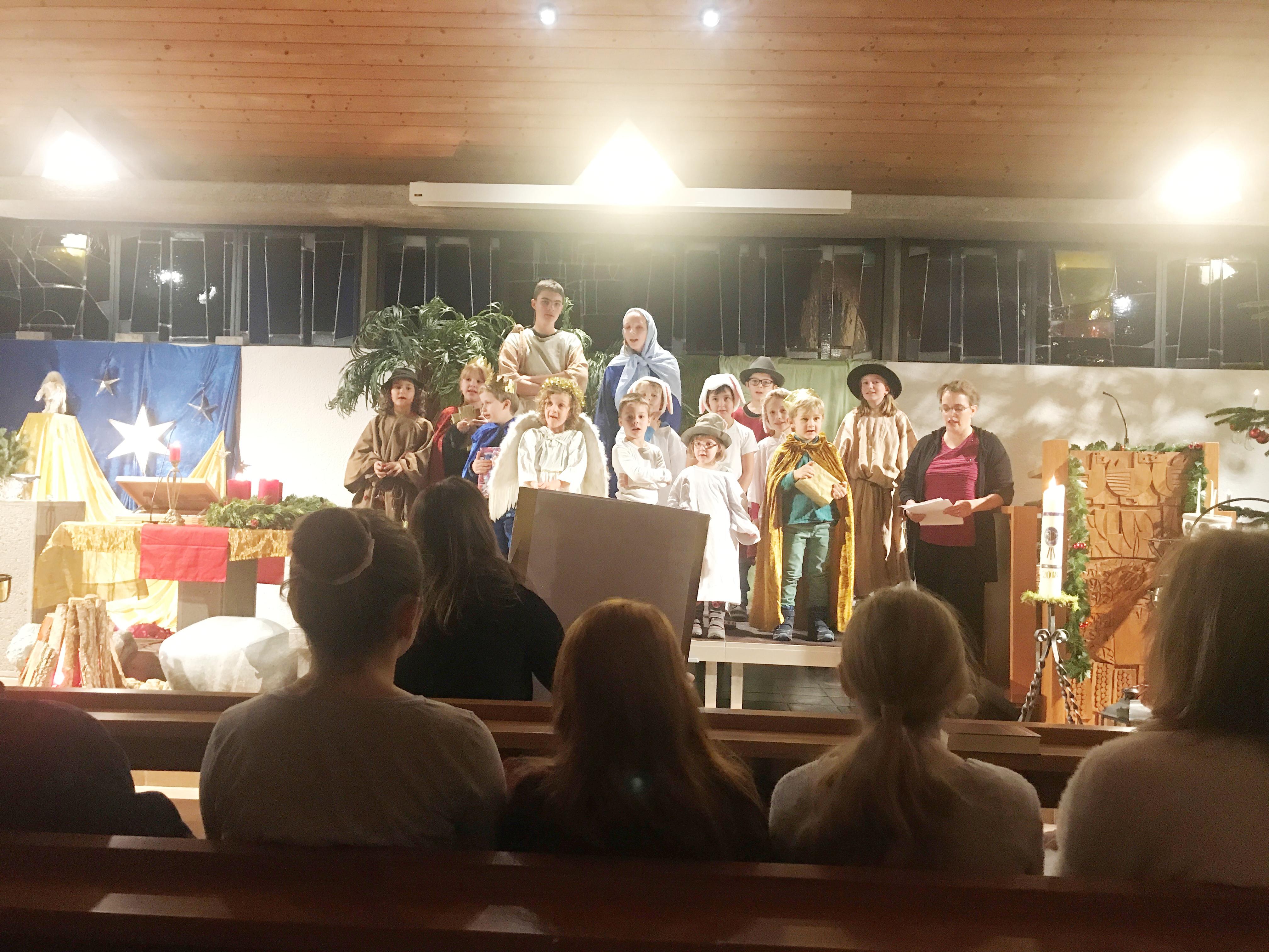 Sonntagsschulweihnachten Bichelsee 2018