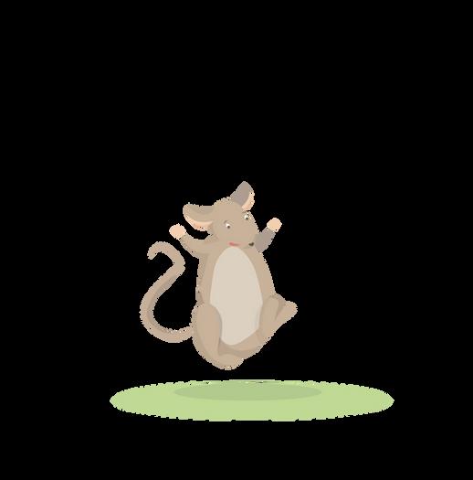 Mr Rat is now happy
