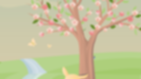 Narus content under his cherry blossom tree