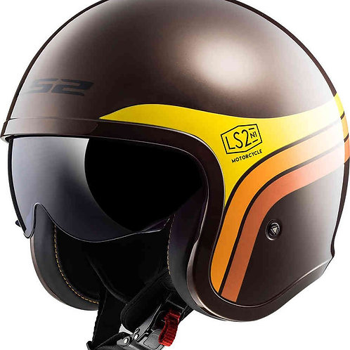 LS2 OF599 Spitfire Openface Helmets Sunrise Brown