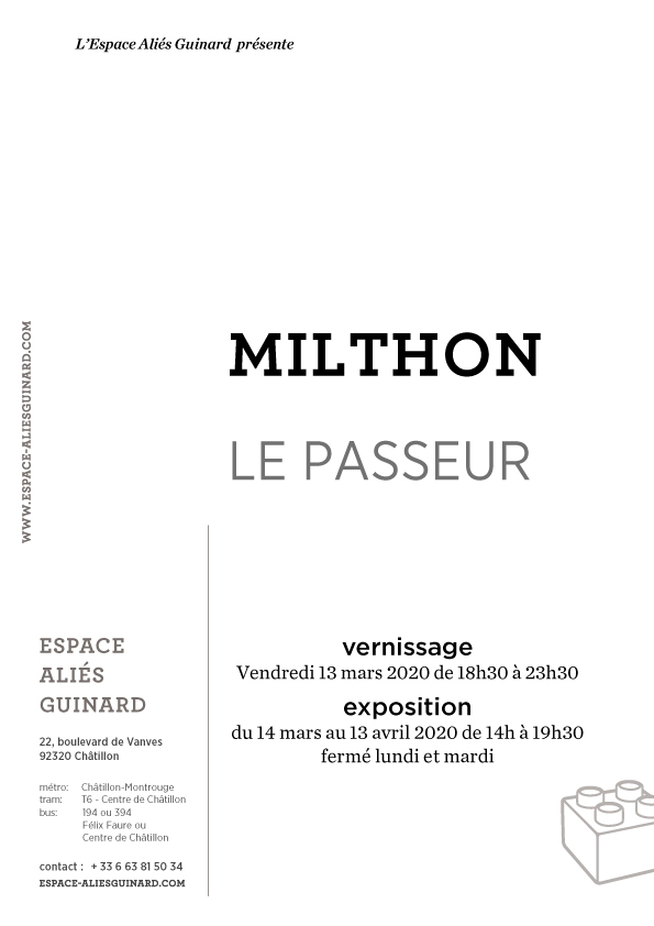 """verso invitation """"Le passeur"""" 2020"""