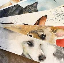 Ritratto ad acquerello su carta Arches 300 g.  Visita il mio shop Etsy DUM