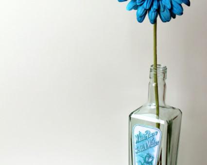 Gin Bottle Turned Flower Vase