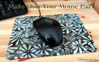 Make Over Your Mouse Pad With Fabric and Mod Podge