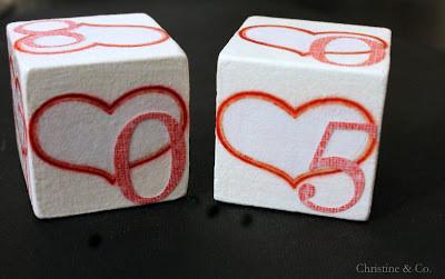 Perpetual Calendar Blocks with Hearts