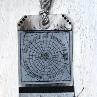 Elegant Spider Web Tag