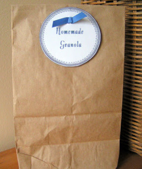 Homemade granola label