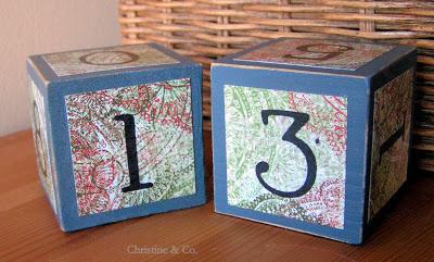 Perpetual Calendar from wooden blocks
