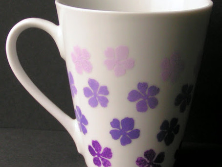 Perhaps an intervention is in order? {Ombre Flower Mug}