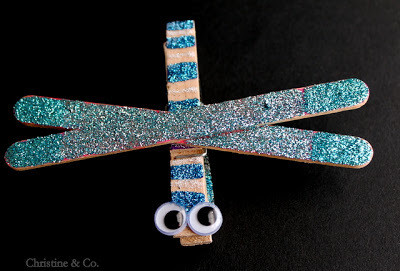 Craft Stick Dragonfly Magnets