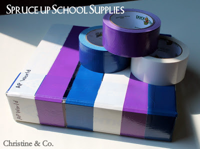 Snazz Up Some School Binders With Duck Tape
